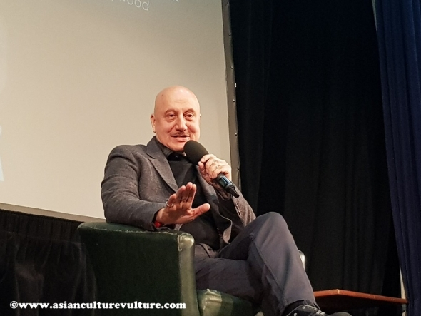 Anupam Kher, Indian film star in London, talks about career from 'nowhere' to Hollywood and how young people should find their path