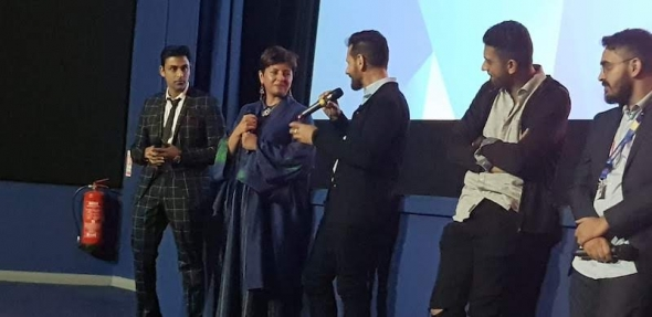 London Film Festival 2018 world premiere of 'Rajma Chawal' (Rishi Kapoor and Leena Yadav, director) video soon…