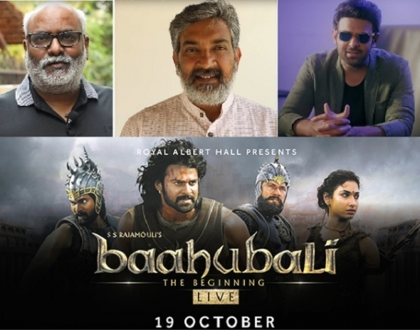 'Baahubali – The Beginning' at the Royal Albert Hall – competition winners announced and star talent Prabhas, SS Rajamouli and MM Keervaani deliver video messages…