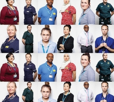 NHS Portraits: Celebrity photographer Rankin takes pictures of workers to mark 72 years…Asian doctor speaks to acv…
