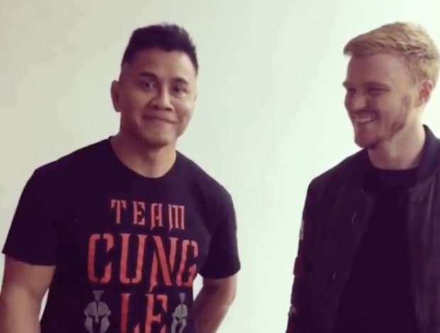 Cung Le & Aaron Gasser via @Cungle185 Instagram