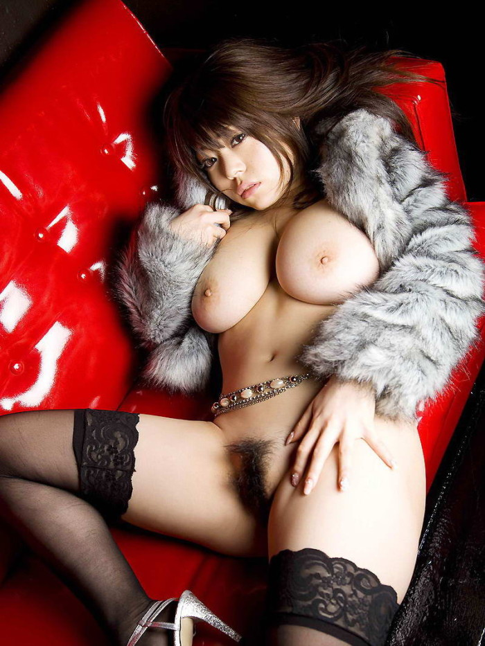 Chubby asian with big boobs and hairy pussy