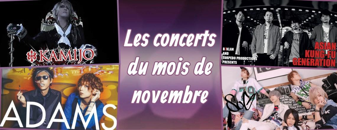 Les concerts de novembre 2015