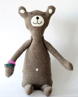 miś boho, miś handmade, rękodzieło, szyte zabawki, z miłości, z seraca, teddy bear,