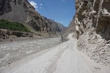 rechts Tadschikistan, links Afganistan