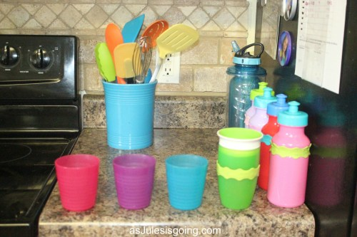 Foster Family Organization daily cup storage