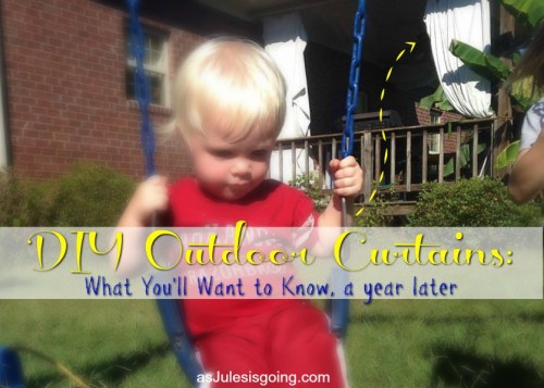 DIY Outdoor Curtains what you'll want to know