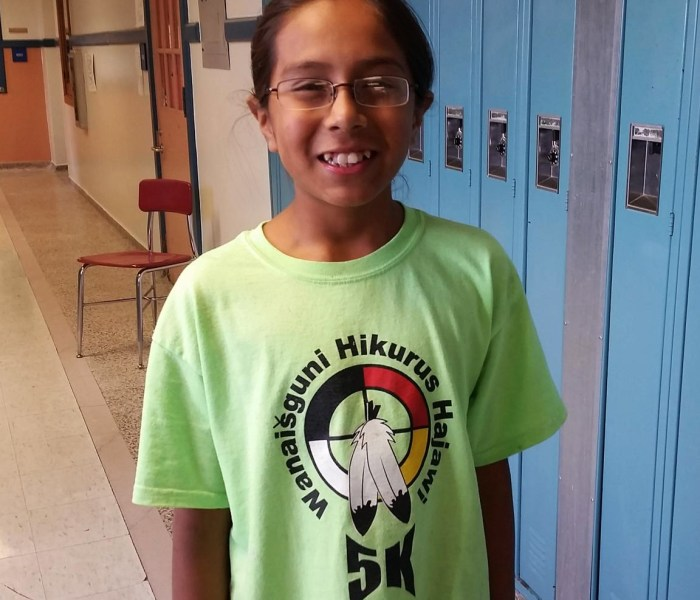 Sixth grader Santino Decory, 11, is representing his fellow native students as an AIMS ambassador. (Next Gen Radio/Angela Nguyen)