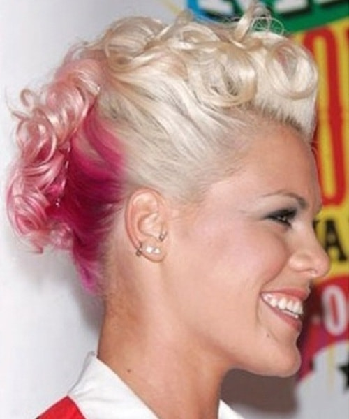 Fauxhawk With Pink Streaks Hair Updos For Short Hair Askhairstyles