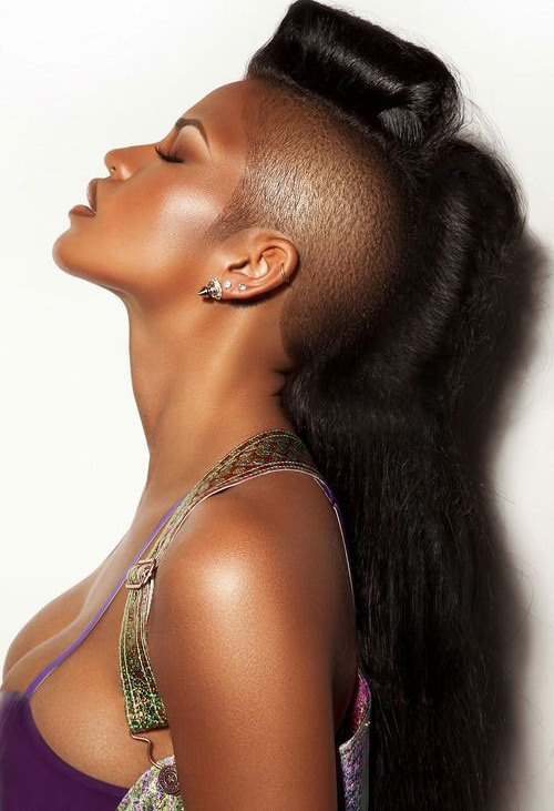 Side Shaved Long Hair Mohawk  Mohawk Hairstyles