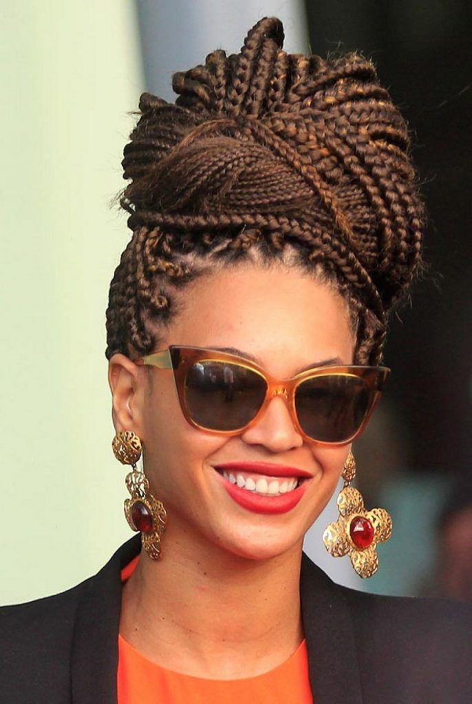 20 Trendy Black Braided Updos