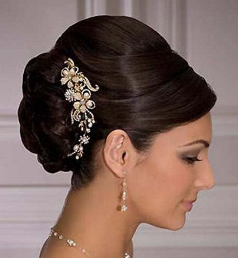 Bouffant Updo With Side Clip Hairstyles For Brides And Brides Maids