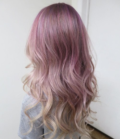 Curly Pastel Ombre Hair Pastel Purple Hair Askhairstyles
