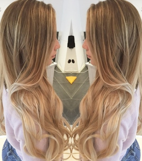 Long Blonde Highlights Soft Ombre Hairstyles Askhairstyles