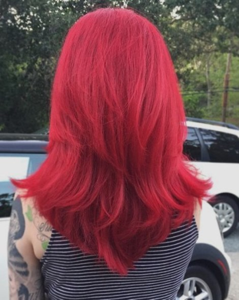 Red Hair V Cut Hairstyles For Medium Hair Length Askhairstyles