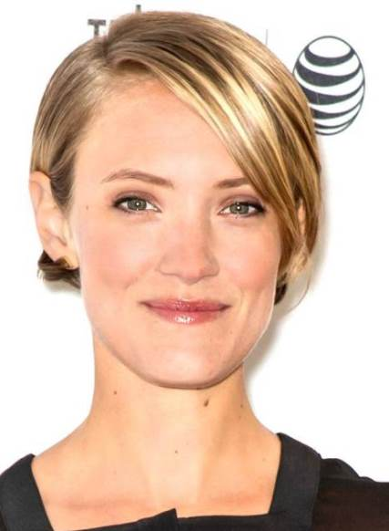 A-Line Bob with Highlights- Short Blonde hairstyles - AskHairstyles