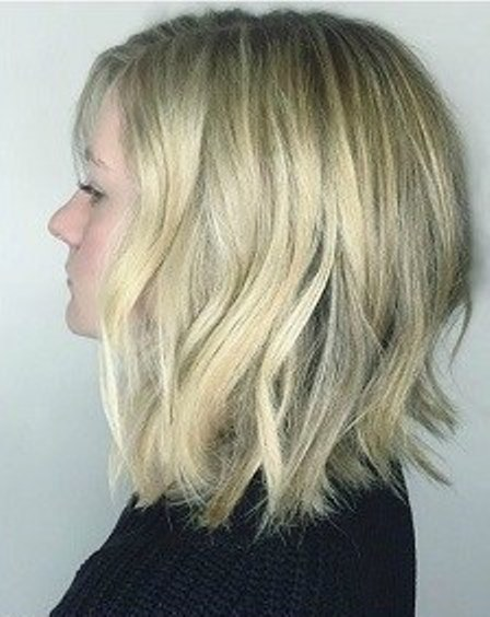 Medium Blunt Cut Shoulder Length Haircuts Askhairstyles