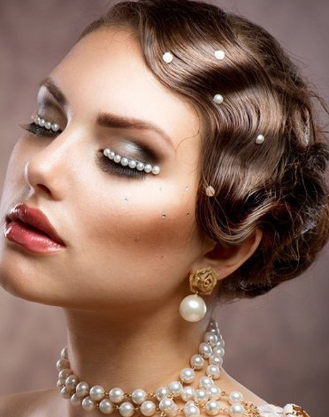 Vintage Updo With Polished Finger Waves Wedding Curly Hairstyles