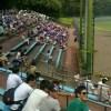 一本杉球場で片倉高校が試合