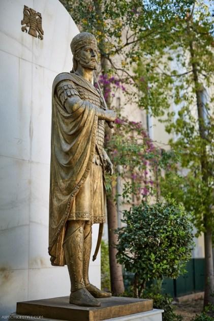 Konstantinos Paleologos statue, Athens