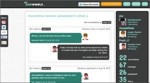 Conweets, ver conversación de Twitter como si se tratase de una timeline