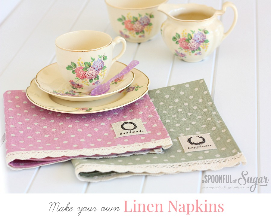 Make your own linen napkins
