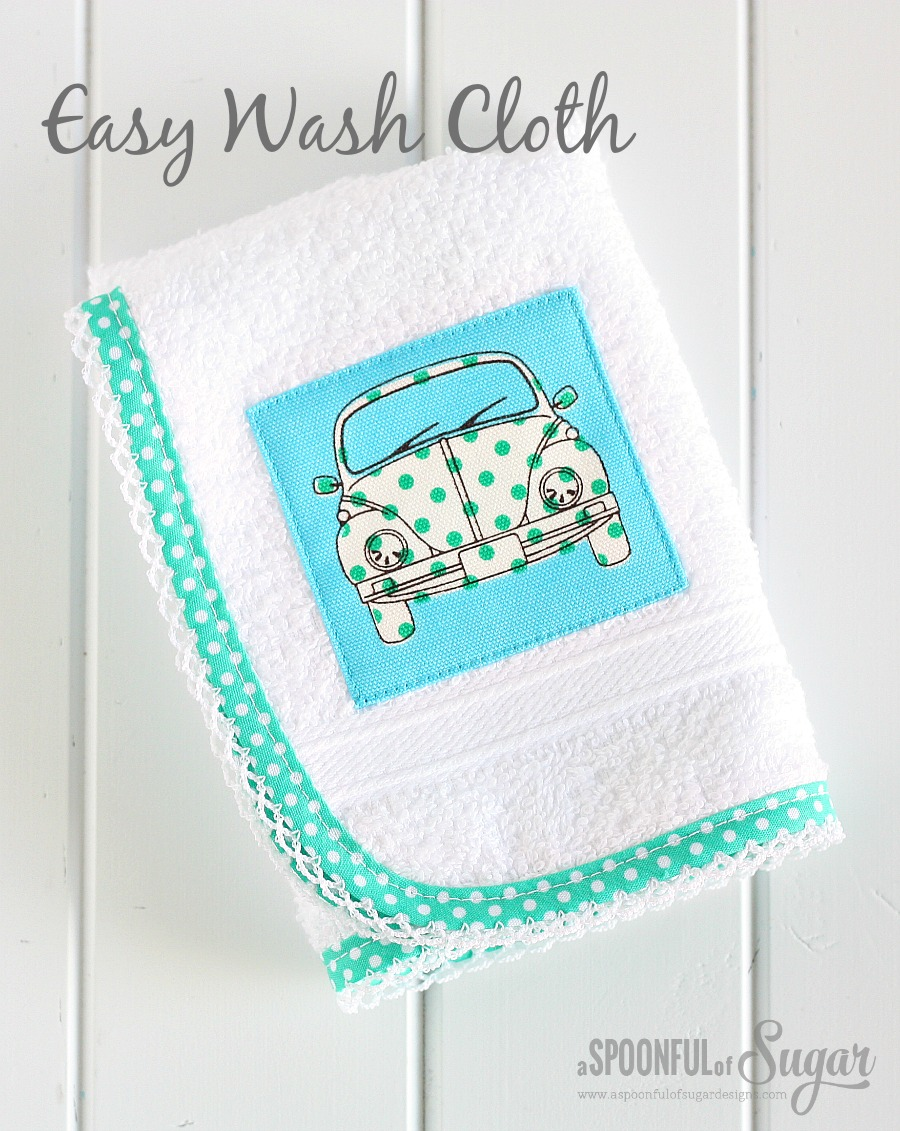 Sew an easy wash cloth for a gift - 30 Minute craft by A Spoonful of Sugar
