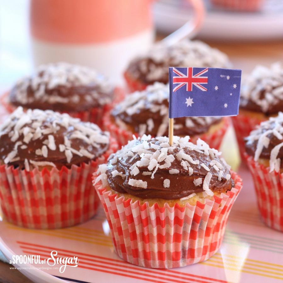 Lamington Muffins
