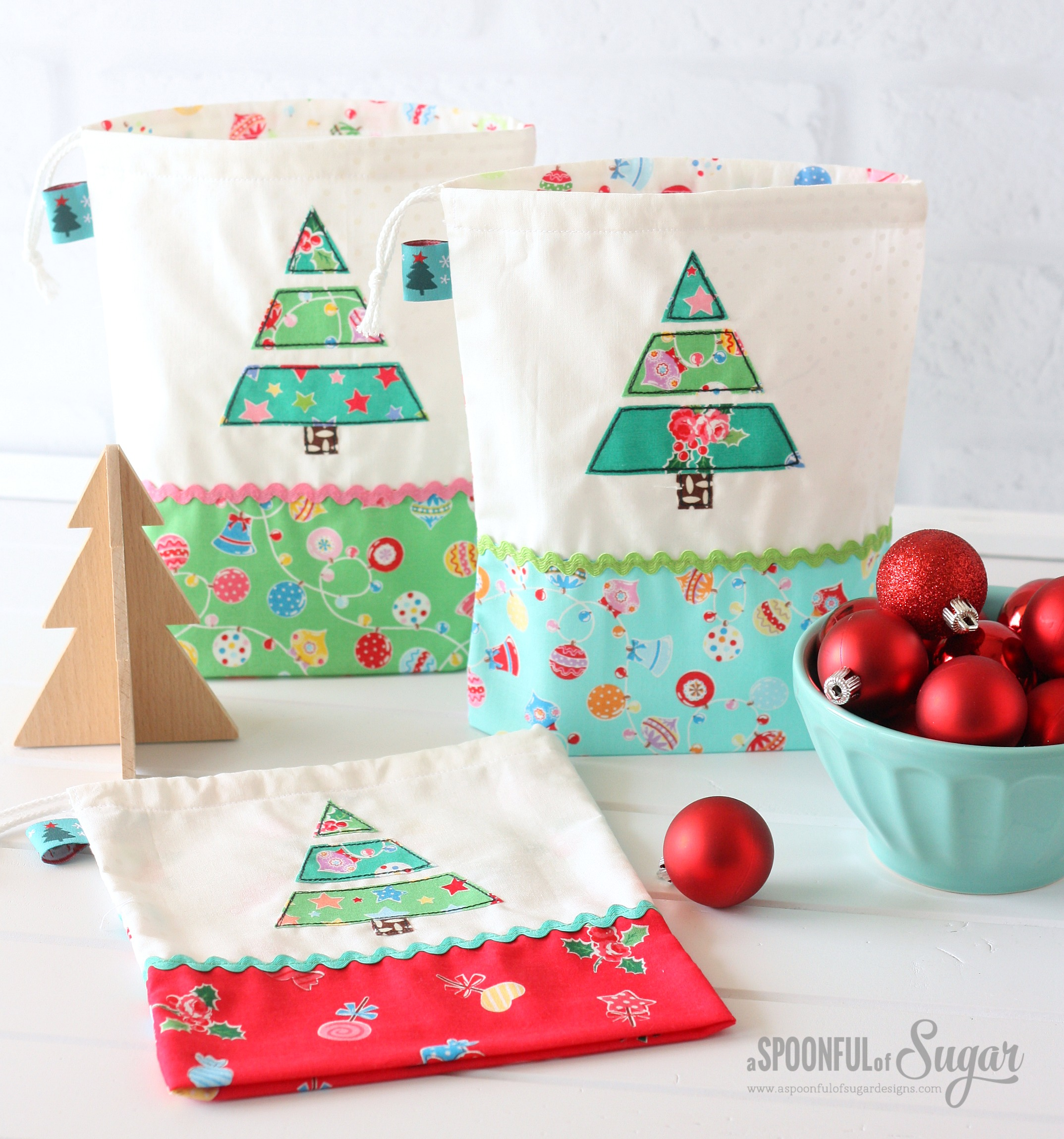 Christmas treat bags a spoonful of sugar
