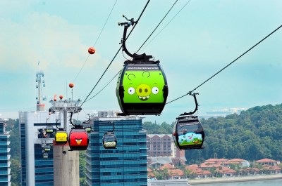 Angry Birds cable car in Singapore - Mount Faber cable cars Singapore