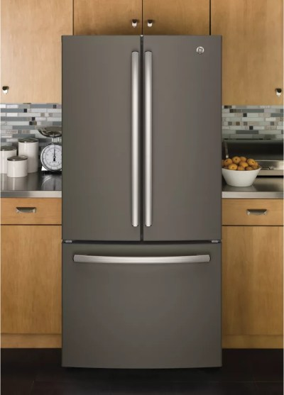 GE GNE25JMKES 33 Inch French Door Refrigerator with ...