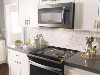 Whirlpool WMH31017FS 1.7 cu. ft. Over the Range Microwave ...