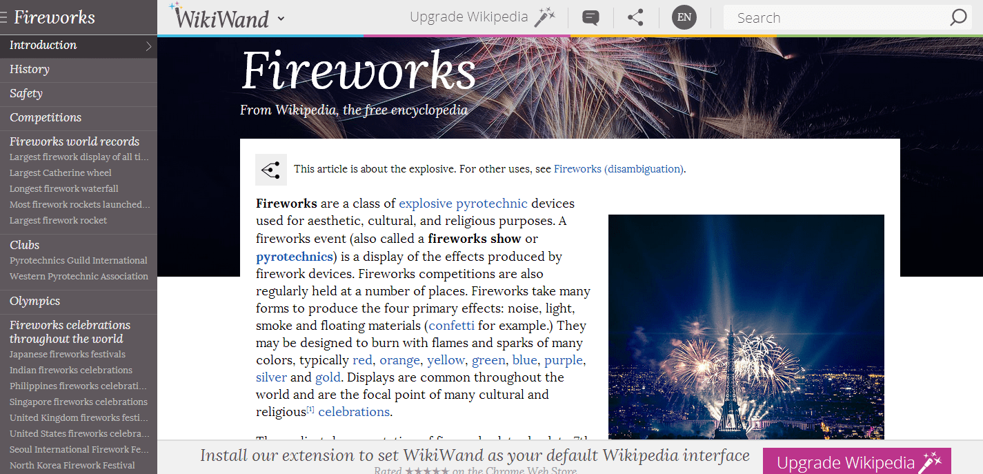 fireworks-pagina-exemplo-wikiwand