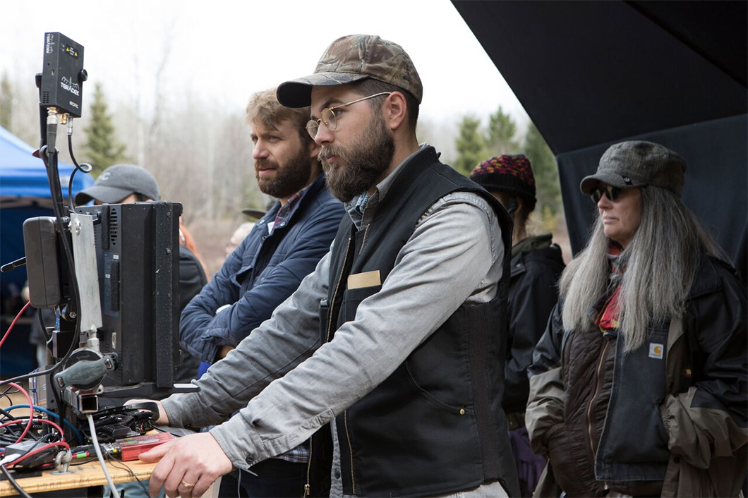 Diretor Robert Eggers no set