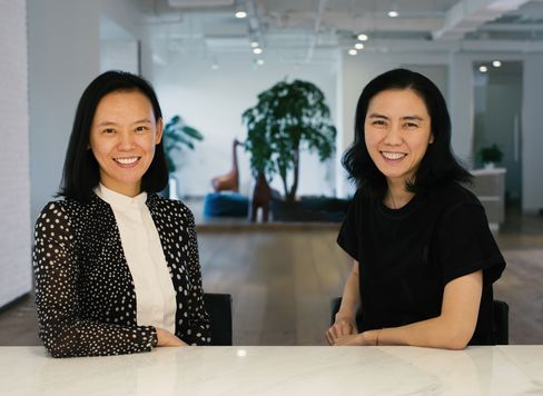H Capital's Chen Xiaohong, left, and Ruby Lu.
