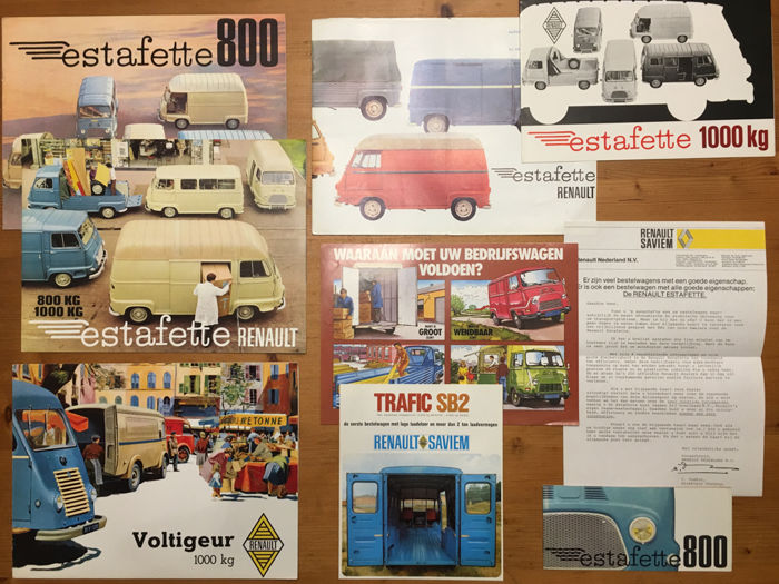 9 Renault auto brochures 1962   ca  1975   types  Renault Estafette     9 Renault auto brochures 1962   ca  1975   types  Renault Estafette 800 and
