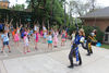 Medieval Times Knights Teach Park District Campers Swordplay, Chivalry