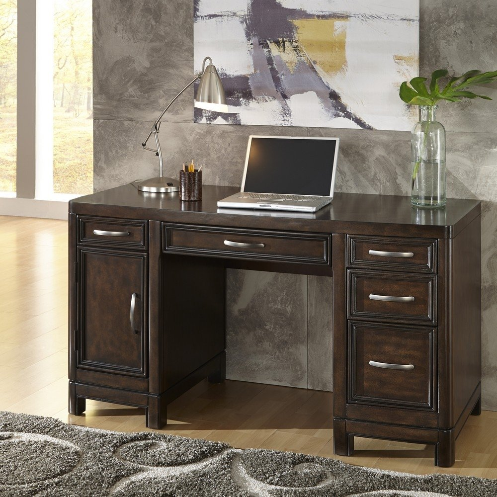 Relaxing Crescent Hill Pedestal Desk Homestyles Home Styles Coffee Table Home Styles Table home decor Home Styles Table