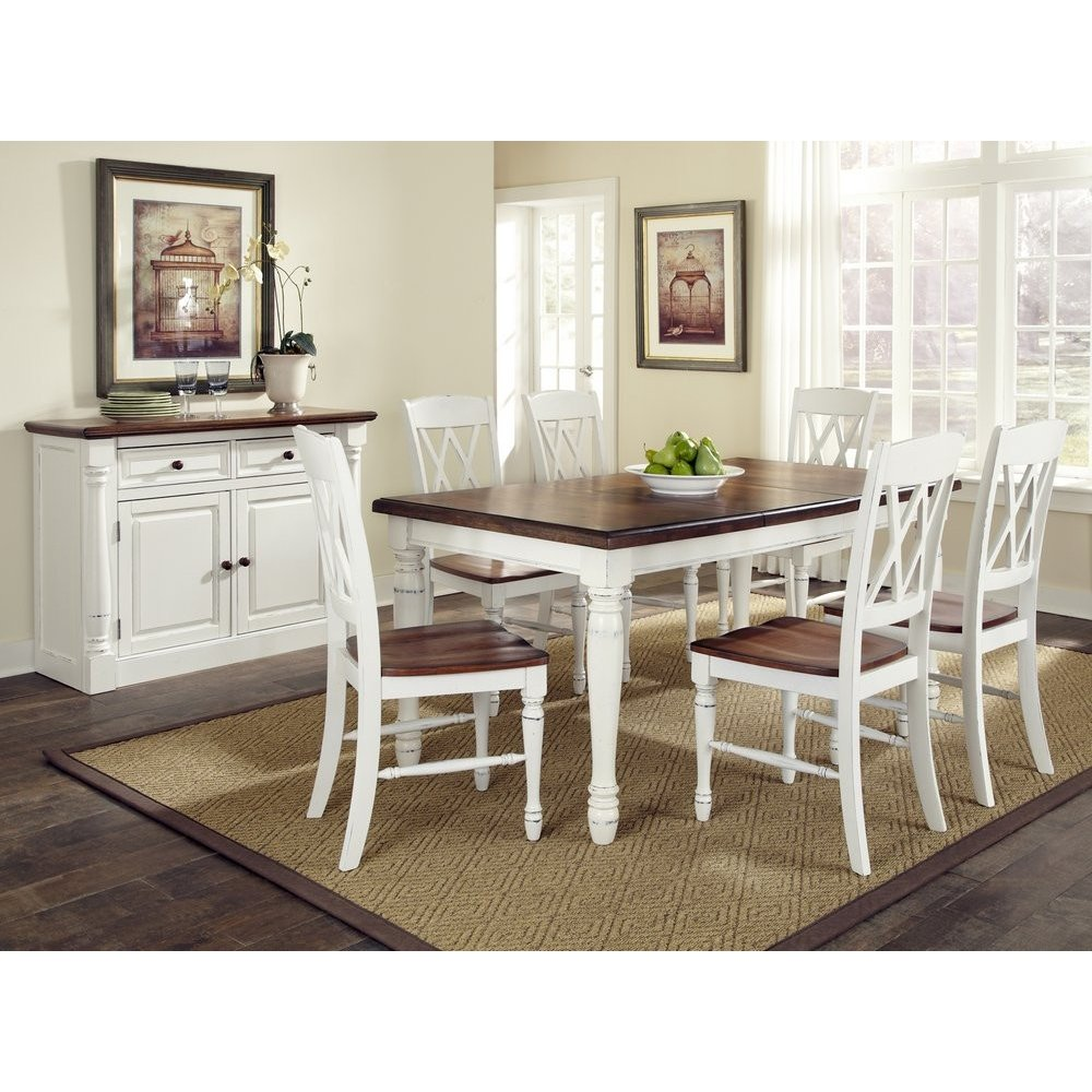 monarch rectangular dining table and six double back chairs kitchen table chairs Monarch Rectangular Dining Table and Six Double X back Chairs