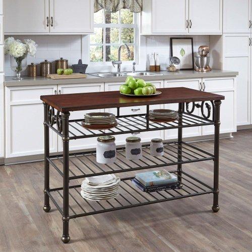 Medium Of Kitchen Island With Shelf