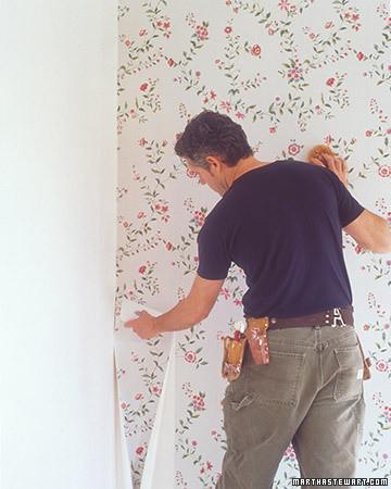 Hanging Wallpaper: Fitting Corners and Trim | Martha Stewart