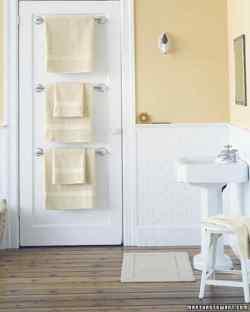 Pleasing Towel Bar Trio Bathroom Organizers Martha Stewart Bathroom Shelving Solutions