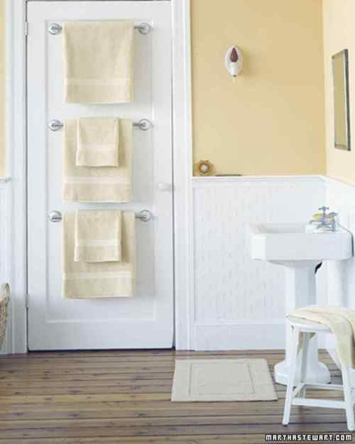 Pleasing Towel Bar Trio Bathroom Organizers Martha Stewart Bathroom Shelving Solutions