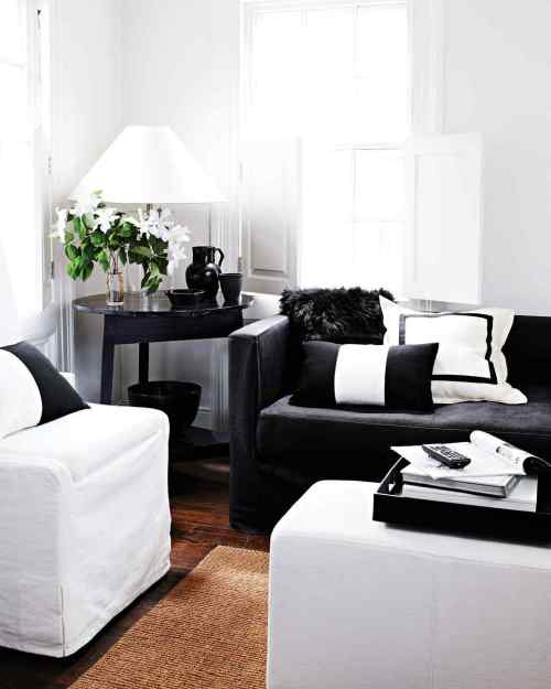 Medium Of Black And White Living Room
