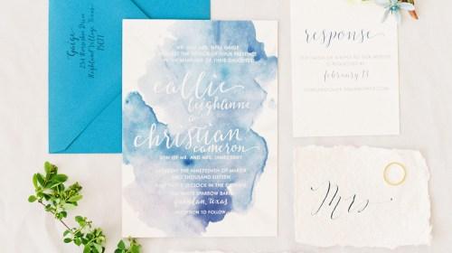 Medium Of Watercolor Wedding Invitations