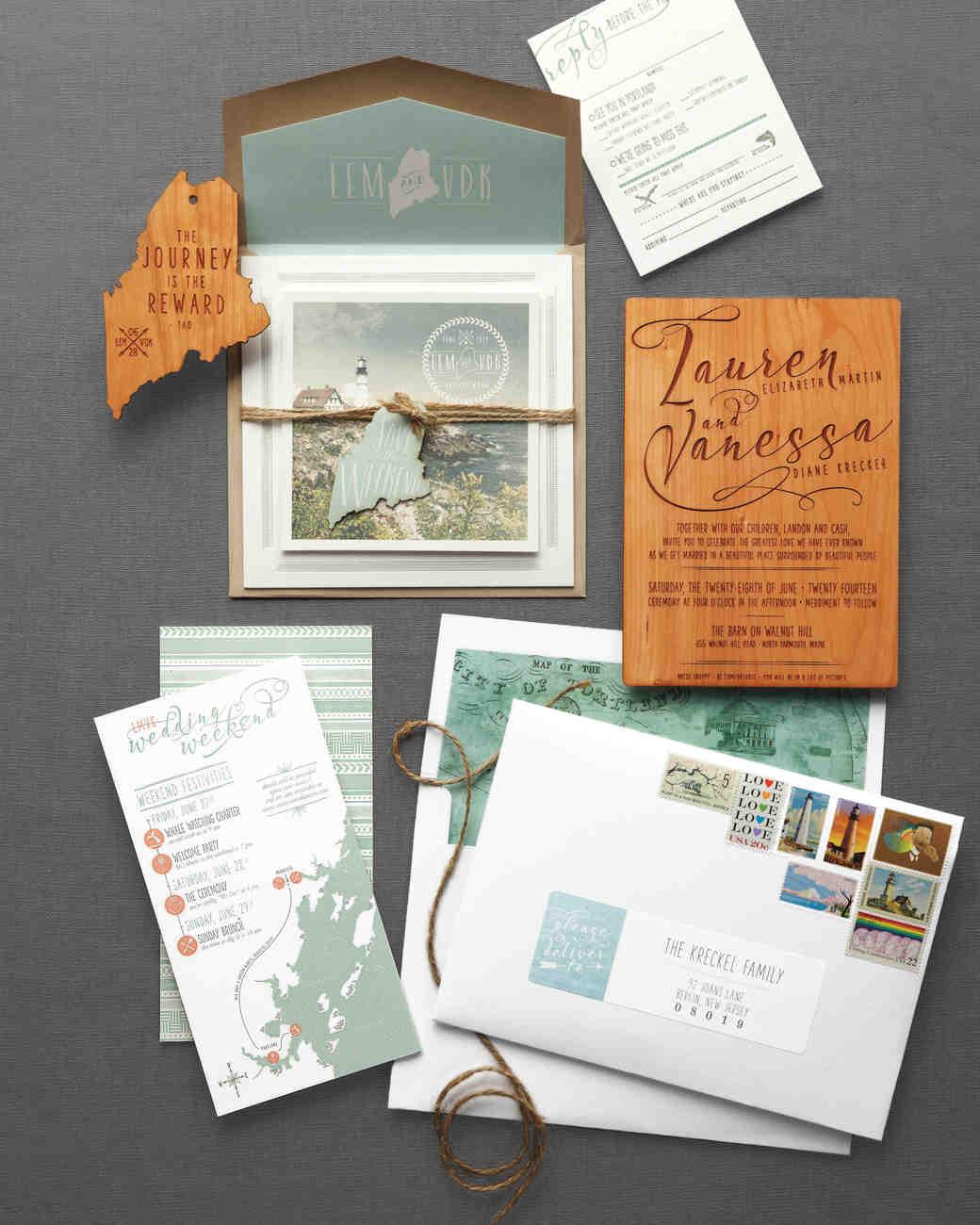 rustic wedding invitations wedding invitation suites 46 Elevated Ideas for Your Rustic Wedding Invitations Martha Stewart Weddings