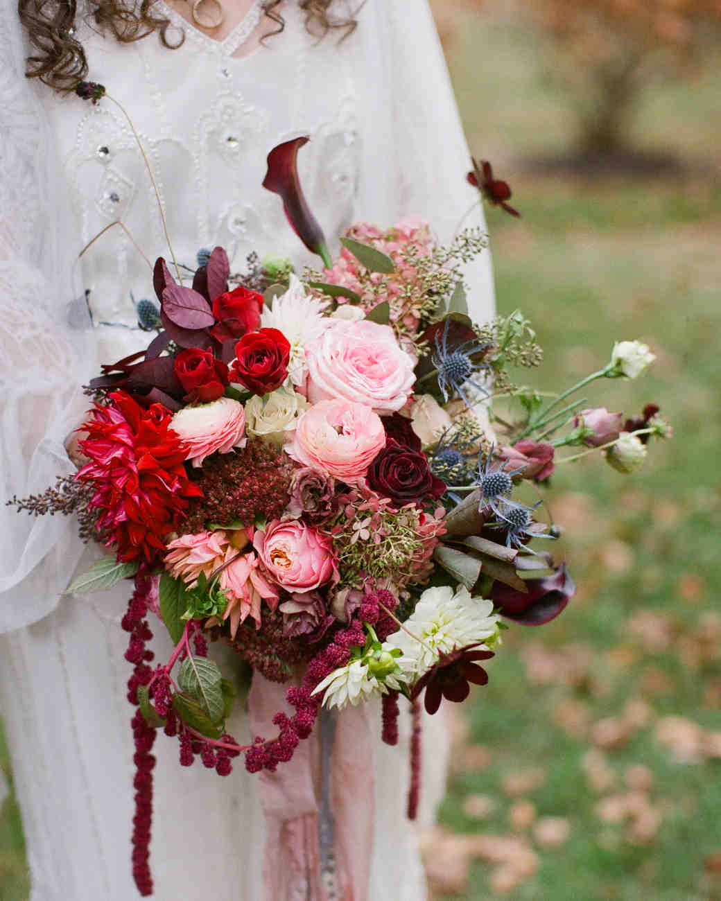 fall wedding bouquets fall flowers for weddings Red and Pink Fall Wedding Bouquet