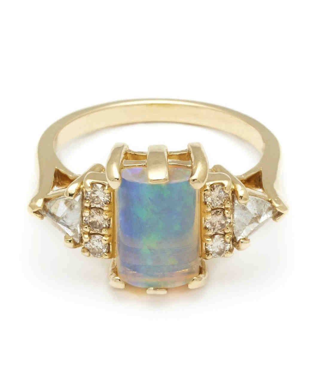 opal engagement rings opal wedding rings Anna Sheffield Opal Engagement Ring