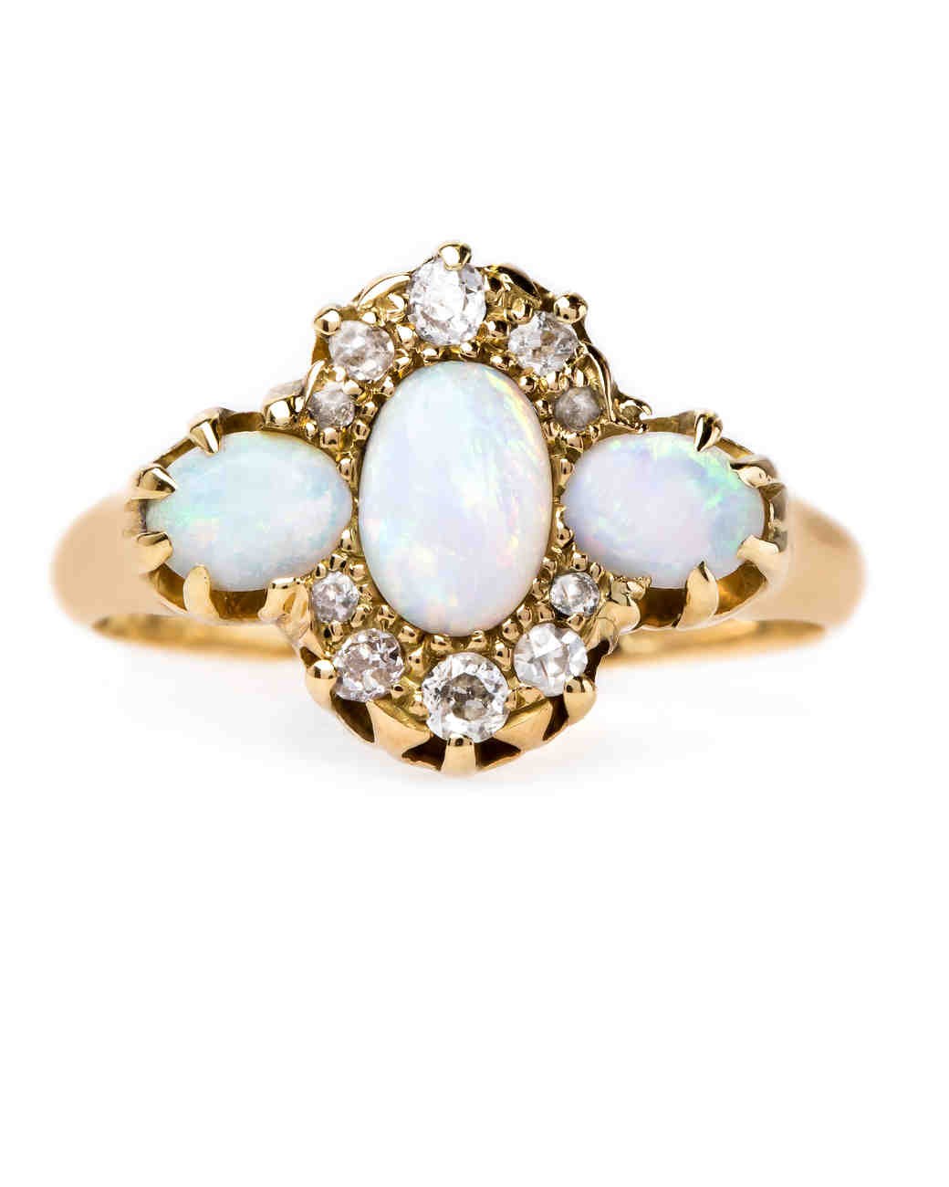 opal engagement rings opal wedding rings Trumpet Horn Opal Engagement Ring