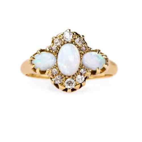 Medium Crop Of Opal Wedding Rings